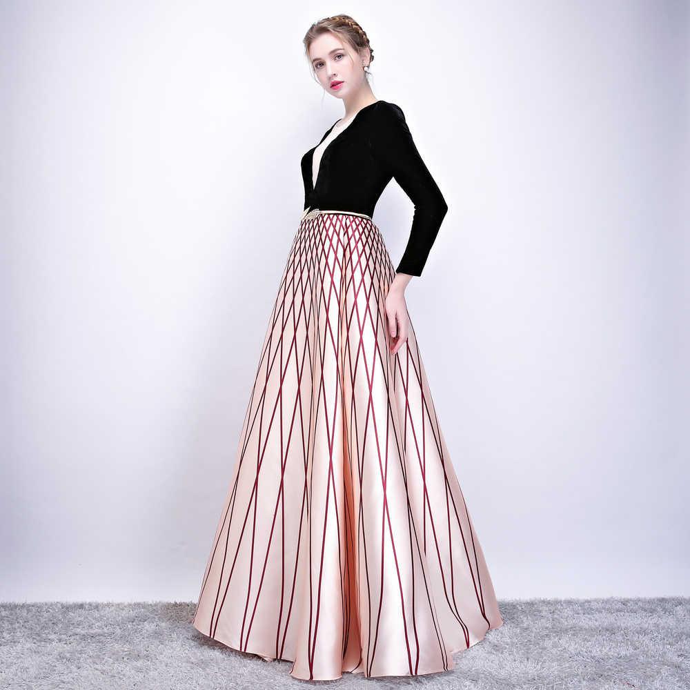 ... SOCCI Weekend Robe De Soiree 2019 New Evening Dress Banquet Black  Velour with Stripe Floor- ... 1d8909e8ddec