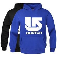 Burton Men Hoodies Male Hooded Pullover Young People Unisex StreetwearTracksuit Sweatshirt Autumn Winter Confident Women RAA0485