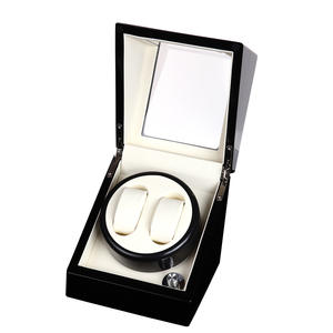 WRTOR 2 0 Glossy Wood Balck Paint White Watch Box Winder