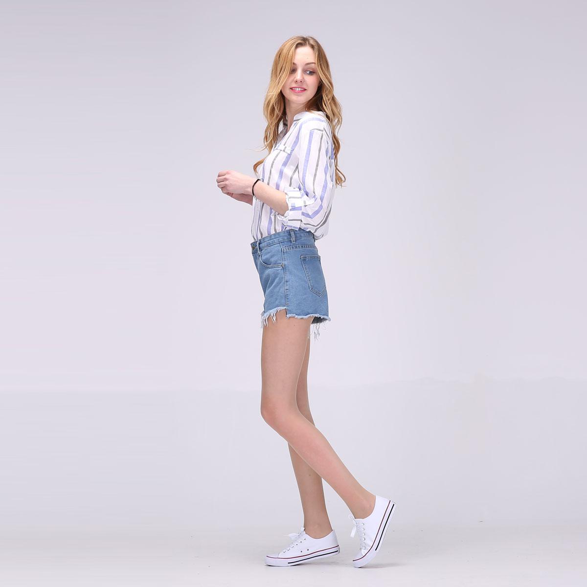 2017 Hot New Women Full Sleeve Blouses Striped Shirts Women Summer Tops Flare Sleeve Blouse Chemise Femme P Size 14