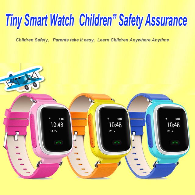 Hot gps smart watch relógio bebê q90 com wifi tela sensível ao toque de chamada sos localização devicetracker para criança seguro anti-lost monitor de