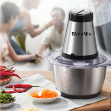 2 Speeds 500W Stainless steel 2L Capacity Electric Chopper Meat Grinder Mincer Food Processor Slicer(China)