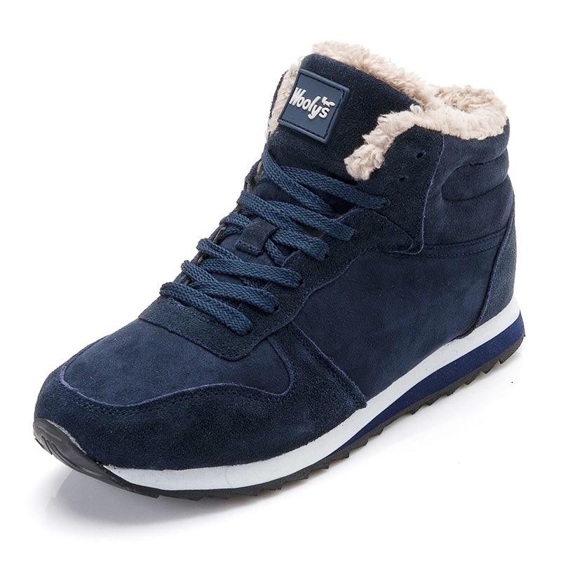 f5d4b9563e821 Tanie Buty zimowe Buty Męskie Buty Moda Ciepłe Futro Stado Mężczyzna Plus  Size Botas Hombre Tenis Trampki Botki Zimowe Mężczyźni Zima buty Cena