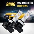 Oslamp 9006/HB4 LED Car Headlight Bulb Dual Color Yellow White Light 3000K 6500K CSP Chip 50W 8000lm Headlamp Fog Lights 12v 24v