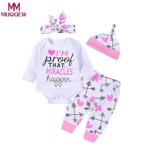 96506fb5f 2018 Spring Autumn Newborn Baby Girls Romper+Arrow Legging Pants ...
