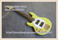 Hot Sale Green Glossy Finish 4 String Left Handed Electric Bass Guitar China OEM Suneye Music Man Bass Guitar Free Shipping