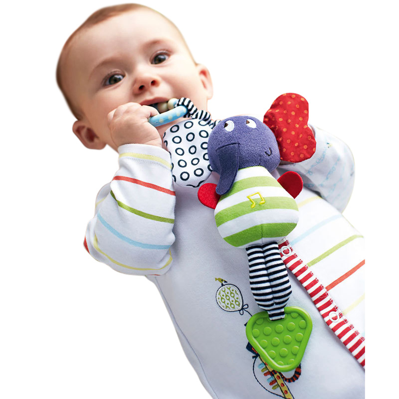 Gifts for Kids Cute Spirals Activities Babyplay Crib Lathe Traveling Trolley Car Seat Car Toys Newborns Rattles Baby Toys