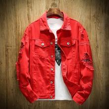 Мужская джинсовая куртка, приталенная Мужская джинсовая куртка, однотонные мужские джинсовые куртки, мужская Ковбойская Модная брендовая одежда в стиле хип-хоп, sudaderas mujer, 5XL