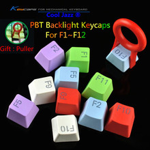 2017 Brand New Greed Wolf PBT Backlight Keycaps F1~F12 Backlit Keys For Cherry / Kailh Switches Backlight Mechanical Keyboard