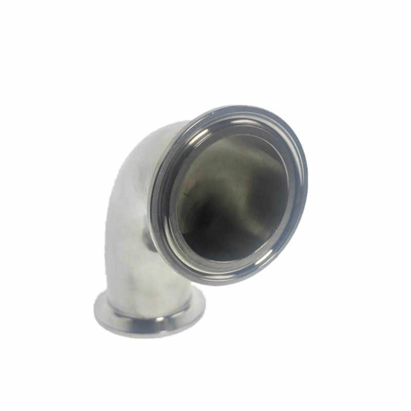 """3/4 """"-4"""" (19-102mm) braçadeira tri inoxidável sanitária cotovelo de 90 graus"""
