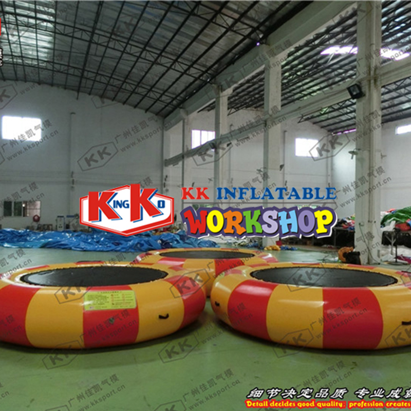 0.9mmPVC Inflatable Water Trampoline Water Jumper Bed Jumping Trampoline