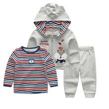 ล่าสุดสบายๆ Cardigan ชุดกางเกงชุดเด็กทารกเสื้อผ้าชุดสีเทาบอดี้สูทเด็กทารกเสื้อผ้า 12 18 24 เดือน