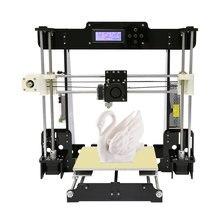 Легко собрать последнее большой размер печати anet 3d-принтер провел расширение reprap prusa i3 3d принтер полный комплект diy с бесплатной накаливания