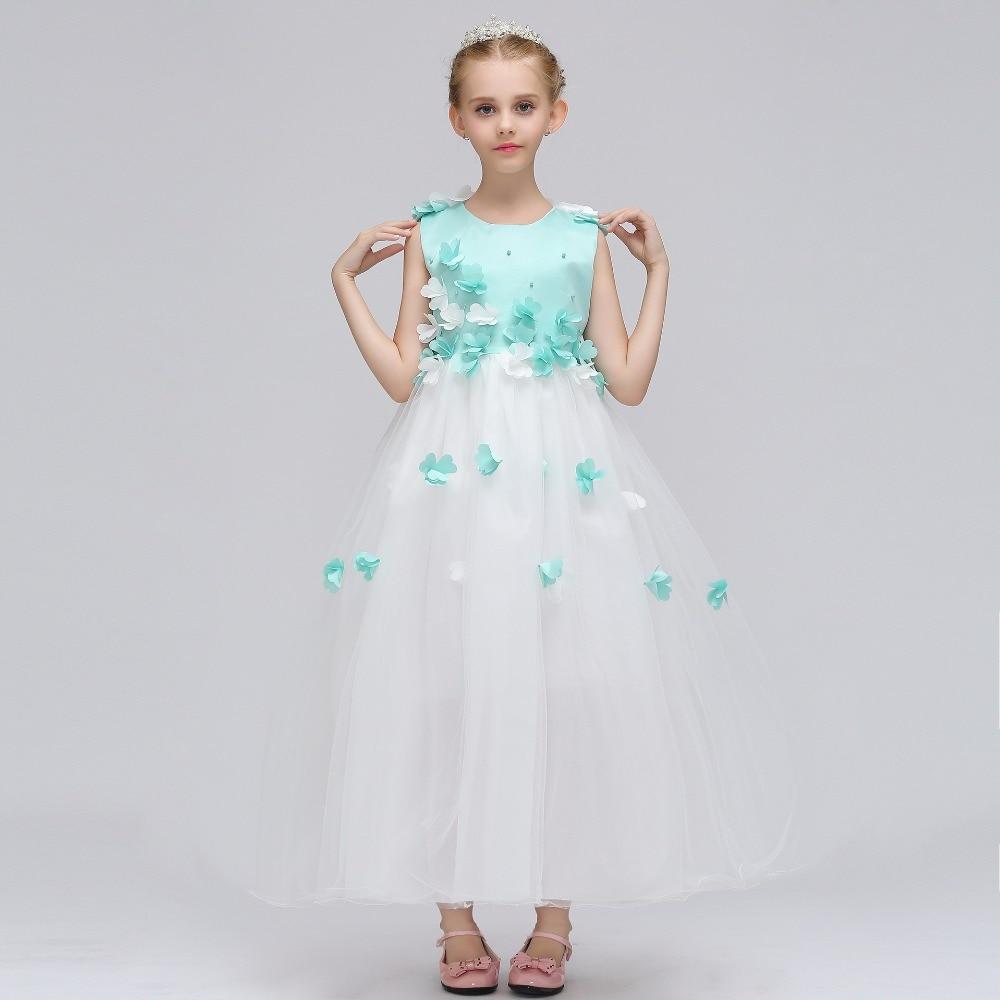 2019   Flower     Girl     Dresses   For Weddings A-Line Tulle Ruffles Long First Communion   Dresses   For Little   Girls