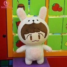 [SGDOLL] Korea Kpop EXO XOXO Planet#2 Plush Toy Chanyeol Chen Kai Suho Sehun DO BaekHyun Stuffed Dolls Fans Gift 16041613-A