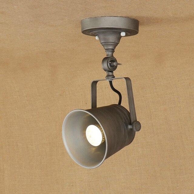 Modern retro loft industrial adjust ceiling lamps sconce E27 LED ...