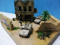 1/72 Scale modern warfare architecture model plastic kits for architecture model layout unassemble