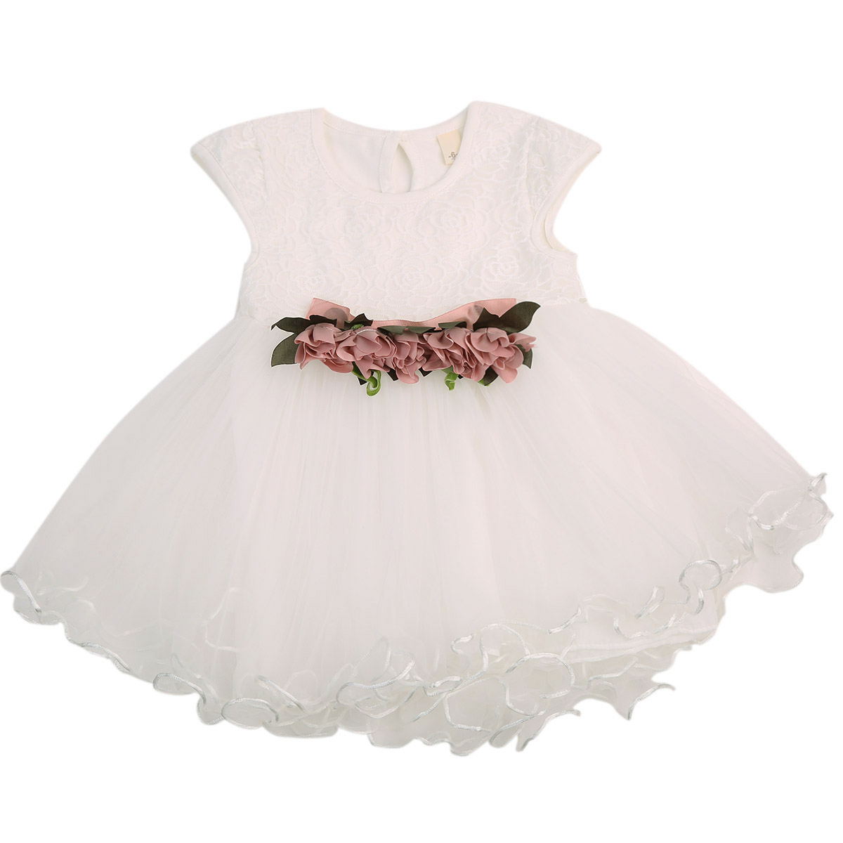 Summer 2017 Toddler Infant Newborn Kids Baby Girls Floral Dress Princess Party Wedding Tulle Dresses Sleeveless Sundress 6M-3Y toddler kids baby girls princess dress party pageant wedding dresses with waistband