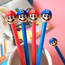 48pcs/lot Cute Cartoon Mario Gel Pen Creative Students Stationery Gift Prize Sign
