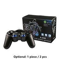 2 Pcs Set 2 4GHz Wireless Game Controller Gamepad Joystick Joypad For Raspberry Pi 3 Retropie