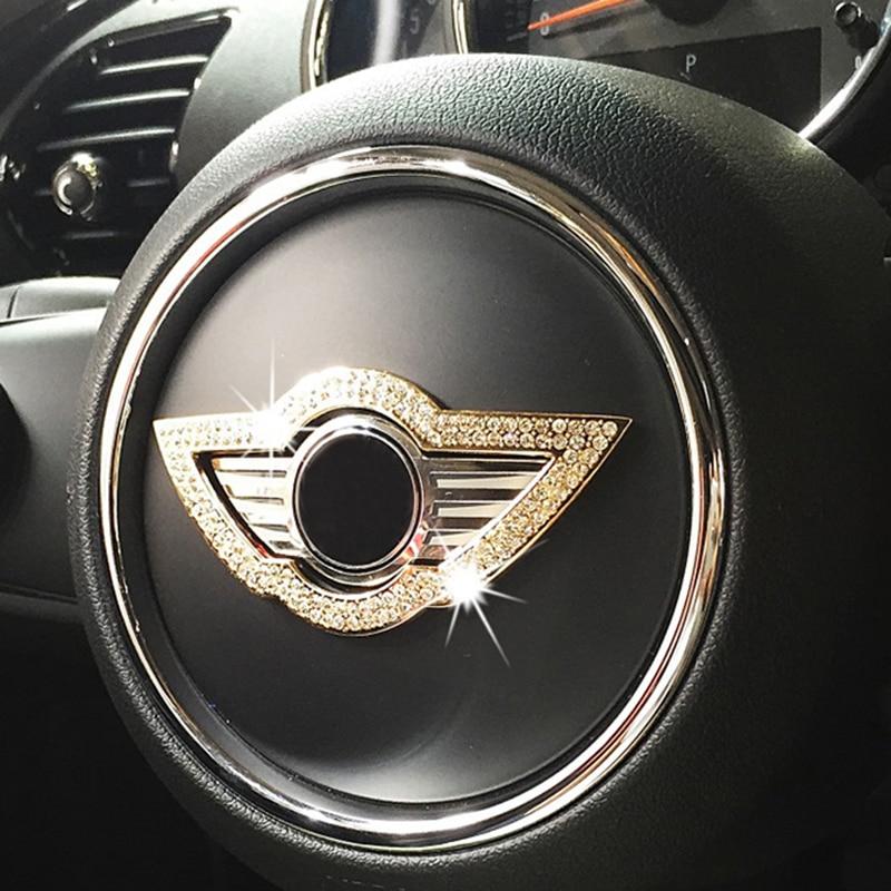Steering Wheel Center Diamond Sticker Interior Decal For MINI Cooper R55 R56 R58 F54 F55 F56 F60 R60 Countryman Car Accessories