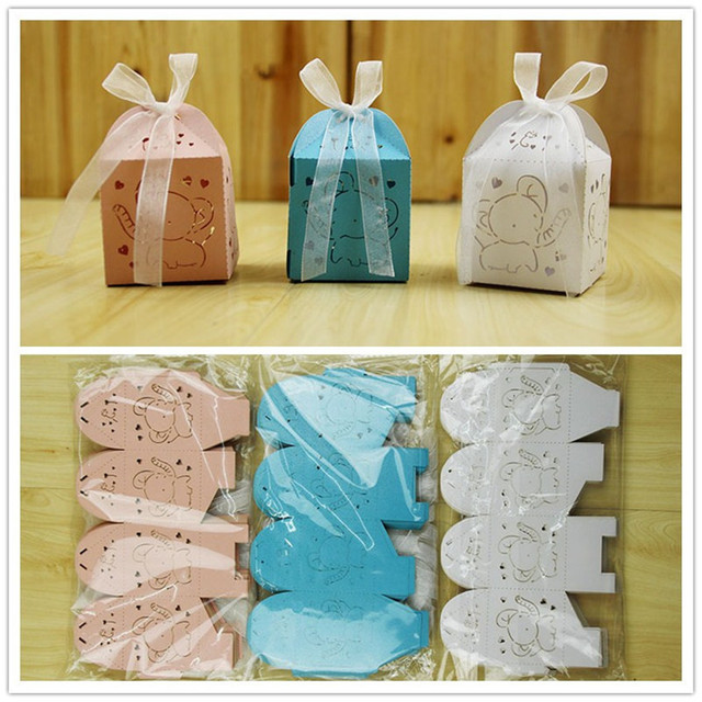 Baptism party favors 100pcs cute baby elephant favor boxes boygirl baptism party favors 100pcs cute baby elephant favor boxes boygirl baby shower gift candy negle Gallery