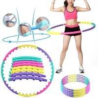 Professionale Ponderata Anello Staccabile Magnete Hula Hoop Massaggio di Allenamento Esercizio Hula Hoop Giocattoli