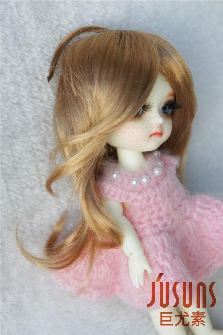 JD176 1/8 sintetis makiar anak patung wig panjang updo pigtail rambut - Anak patung dan aksesori - Foto 5