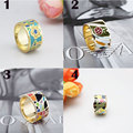 Big Promotion For 19 Styles Rose Gold Plated Copper Enamel Jewelry Ring Scarf Clips