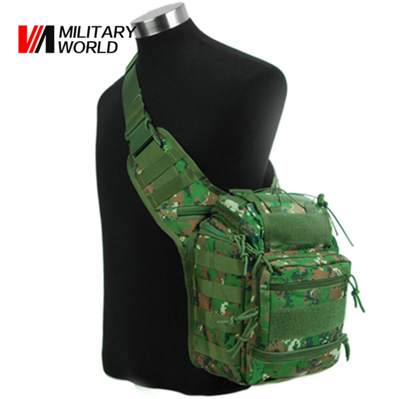 Airsoft Tactical Molle Hunting Shoulder Bag 1000D Waterproof Nylon Military Outdoor Camo Waist Pack Army Messenger Bags Pouch