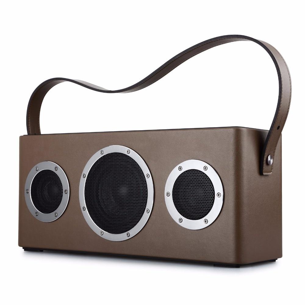 GGMM M4 Bluetooth Haut-Parleur Portable Haut-Parleur Sans Fil WiFi Haut-Parleur Audio HiFi HiFi Son Stéréo avec des Basses pour iOS Android Windows