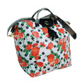 New Arrival White mit Red roses, black dots Weekend bag    women  travel bags carry on luggage  duffle bags