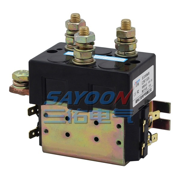 SAYOON DC 24V contactor CZWT150A , contactor with switching phase, small volume, large load capacity, long service life. sayoon dc 36v contactor czwt200a contactor with switching phase small volume large load capacity long service life