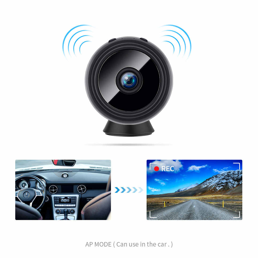 30a5222c4441a ... FREDI 1080 P WiFi mini caméra ip batterie intégrée Caméra de Surveillance  caméra de sécurité sans ...