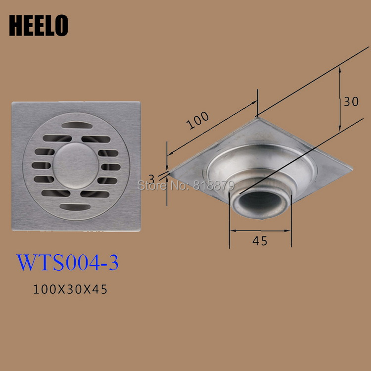 Bathroom 4 201 stainless steel water-sealing water trap anti-odor washing machine floor drain stainless steel hand palm odor remover lasts forever