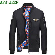 AFS JEEP thick Very warm  Soft coat men jacket high quality Both sides wear Cotton jacket men parka Coat men Camouflage 120