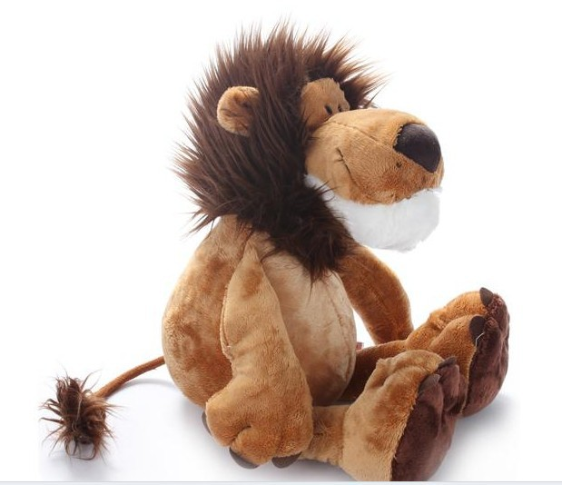 stuffed animal plush 25cm jungle lion plush toy w766