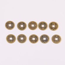 6pcs diy jewelry accessories handmade bead weave Chinese knot jade line pure retro ten emperor copper coins