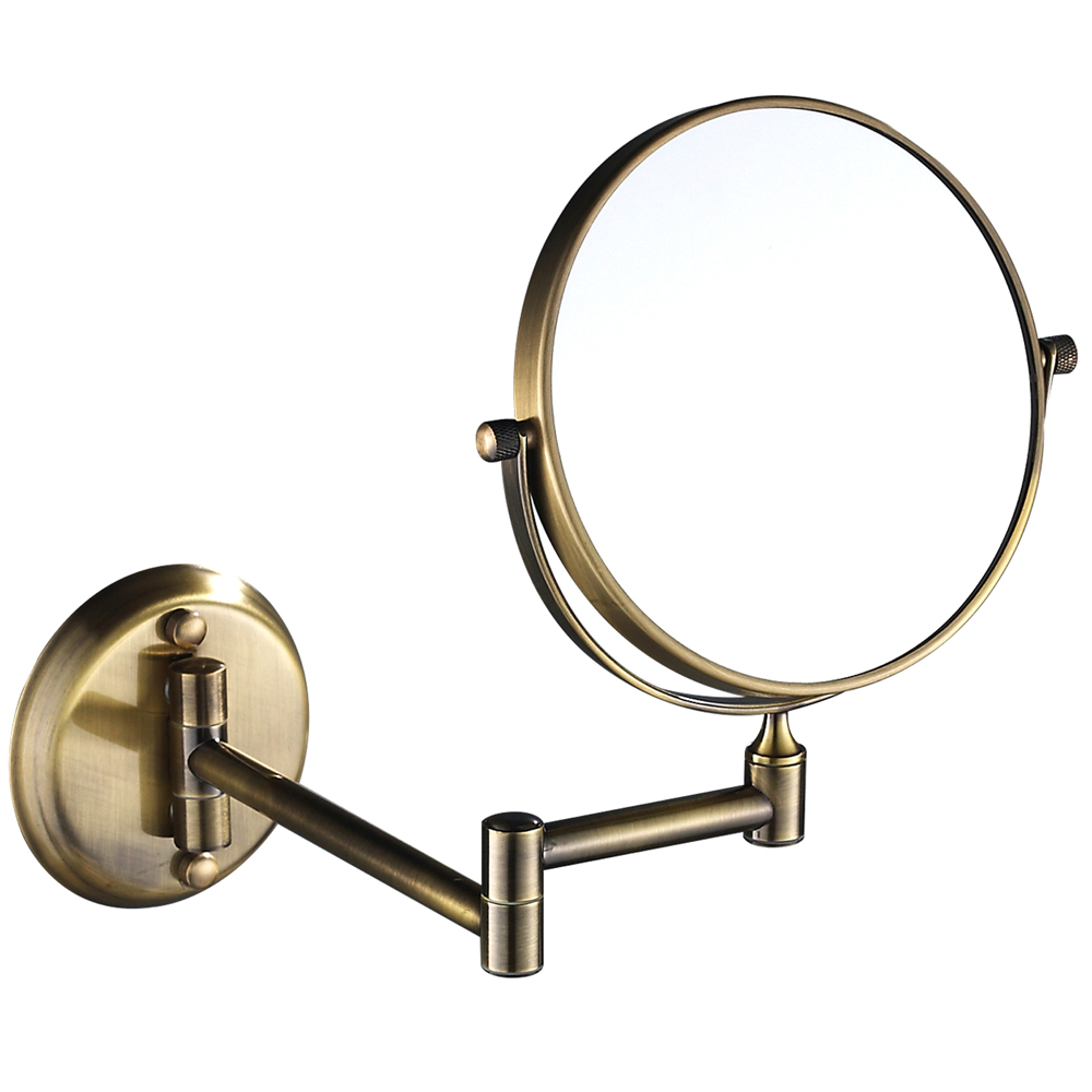 Gurun 8 Inch Shaving Makeup Bathroom Mirror Double Sided 10x Magnifying 1X Wall Mount Sturdy Antique