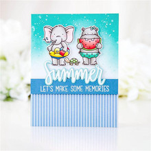 YaMinSanNiO Stamp 2Pcs 7.9*4.6cm Cutting Dies for Scrapbooking Card Making Alphabet Letter Clear Metal