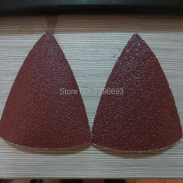 20pcs/lot triangular sanding paper,Oscillating machine Accessories,Renovator accessory,80x80mm size,mesh size 60,80,120,180,240 image
