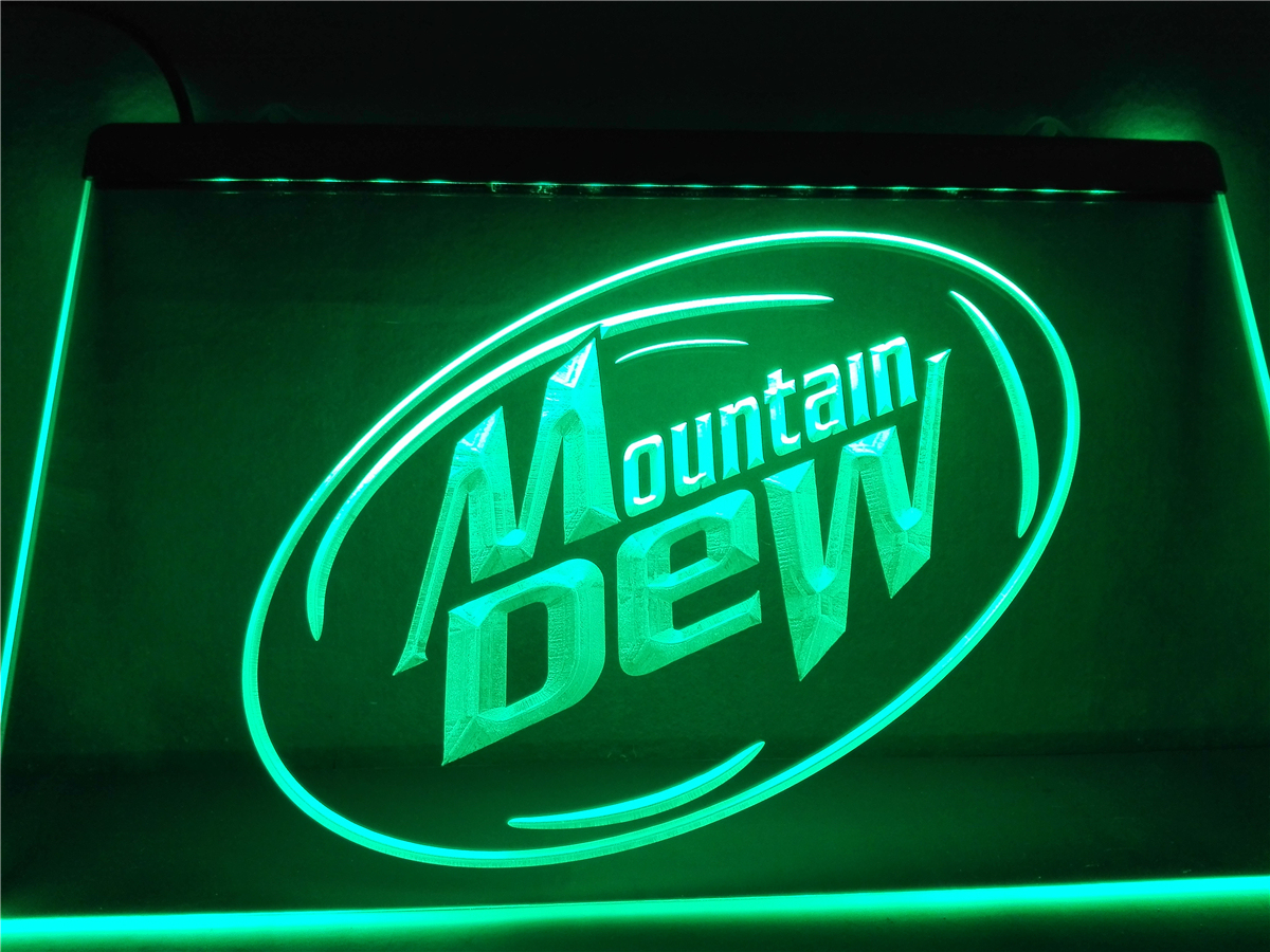 Meglio Neon O Led le162- mountain dew energy drink sport led neon light sign home decor crafts