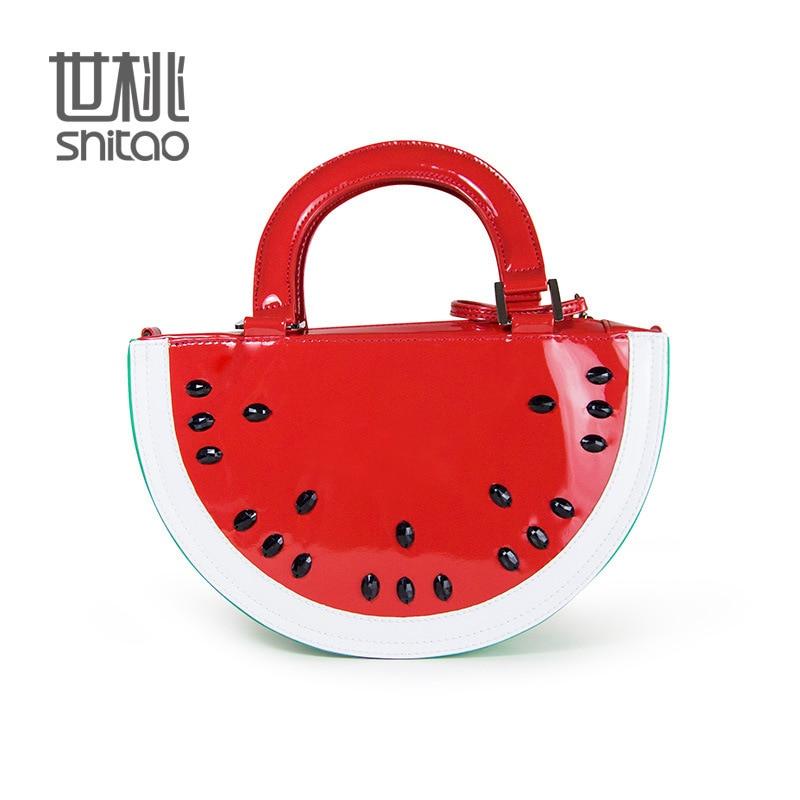 ФОТО watermelon Clutch Messenger shoulder bags Handbags Watermelons style cartoon fruit Famous Brand Ladies Designer Women Bags tote
