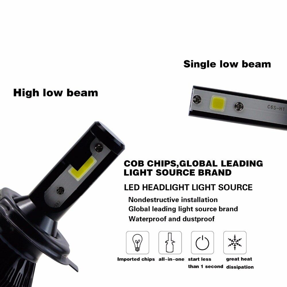 GEETANS 2Pcs H4 LED H7 H11 880 H3 9004 9005 9006 H1 COB - Φώτα αυτοκινήτων - Φωτογραφία 5