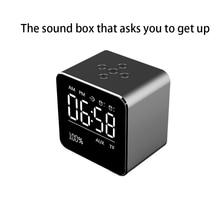 LED Desktop Table Alarm Clock USB Digital BT Wireless Mini Subwoofer Speaker Mirror Alarm Clock
