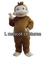 Новый стиль Любопытный Джордж Обезьяна Маскоты костюмы мультфильм костюм Halloween Детский костюм для вечеринок взрослых Размеры Бесплатная д