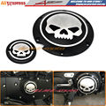 Black Deep Cut Skull Derby & Timing Timer Cover For Harley Sportster Iron Seventy-Two Forty Eight XL883 XL1200 2004-2015 2016
