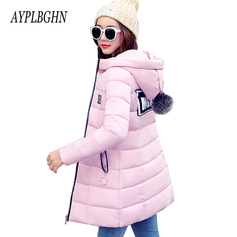 high quality Women Winter Coat Hooded Solid color Large size Warm Jackets Coats Parka Medium long Thick Cotton Jacket Coats 5L55 large size winter jacket hooded coat women clothing korean loose thick lamb wool coat solid casual warm cotton female coats 4xl