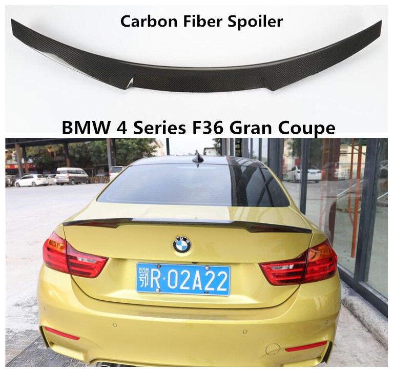 Bmw M4 Series Gran Coupe: Carbon Fiber Spoiler For BMW 4 Series F36 Gran Coupe 2014