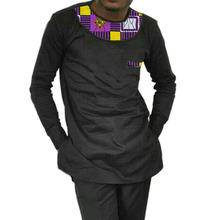 Sommer dashiki hemd afrikanischen und patchwork männer tops langarm afrika clothing großhandel customizing